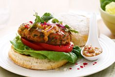 Chicken satay burgers http://www.taste.com.au/recipes/22066/chicken+satay+burgers