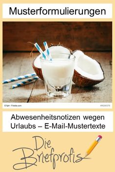 Musterformulierungen für Abwesenheitsnotizen - Out-of-Office-Reply Organizing, Health Fitness, Writing, Business, Life, Organization, Interesting Facts, Tips And Tricks, Education