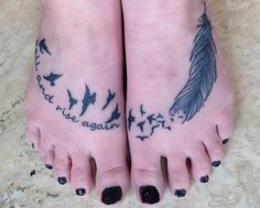 Fall and Rise Again with Eagle and Feather on Foot - Cool Bible Verse Tattoo Design Ideas with Meanings, http://hative.com/cool-bible-verse-tattoo-design-ideas-with-meanings/,