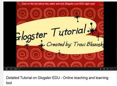 Detailed Tutorial on Glogster - YouTube Video