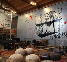 Brain Dump Brand Devotion by the Ogilvy Impact Studio with conference seating by Found Vintage Rentals