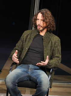 Chris Cornell Photos Photos - Singer/musician Chris Cornell speaks at the New York Times TimesTalk during the 2012 NY Times Arts & Leisure weekend>> at The Times Center on January 7, 2012 in New York City. - 2012 NY Times Arts & Leisure Weekend - TimesTalks With Michael Shannon & Chris Cornell