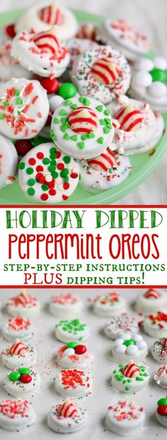 hese Holiday Dipped Oreos make an inexpensive and festive gift for Christmas! Follow my easy how-to instructions and tips and you'll be churning out gourmet dipped Oreos in no time!:
