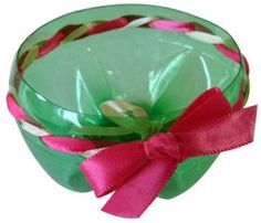 Pop Bottle Dish with Ribbon #craft - i think activity day girls might like this