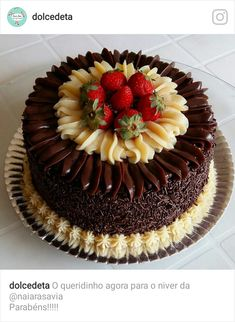 Meanwhile, create the topping by combining every one of the ingredients in a very saucepan and provi Delicious Cake Recipes, Yummy Cakes, Dessert Recipes, Cake Icing, Cupcake Cakes, Chocolate Birthday Cake Decoration, Cake Decorating Piping, Gourmet Cakes, Cakes Plus