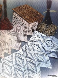 Crochet and arts: Crochet lace Thread Crochet, Crochet Trim, Filet Crochet, Crochet Motif, Crochet Lace, Knit Edge, Crochet Dollies, Crotchet Patterns, Knitting Magazine