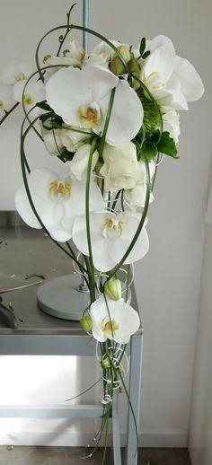 Bouquet de mariée orchidées #bouquetmariéephalaenopsis #bouquetmariée #orchidee