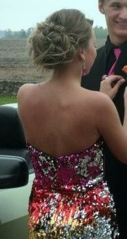 Prom hair and love that dress