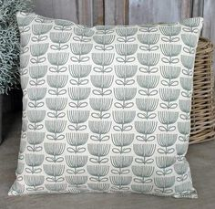 Flower Print Cream Cushion - - Hicks and Hicks Cream Cushions, Flower Prints, Interior, Flowers, Floral Patterns, Indoor, Cream Pillows, Floral Prints, Interiors
