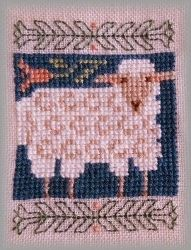 """Sheep cross stitch ~ """"Signs of Spring"""" Book 163 by The Prairie Schooler."""