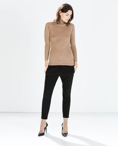 Image 1 of COTTON TURTLENECK SWEATER from Zara