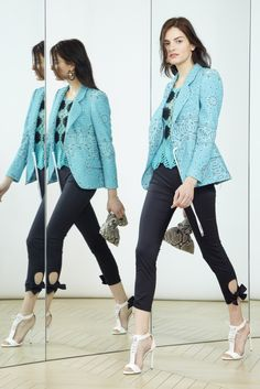 flared blazer with bow leggings   Alexis Mabille Resort 2016 - Collection - Gallery - Style.com