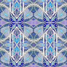 Blue Heart Jungle fabric by edsel2084 on Spoonflower - custom fabric