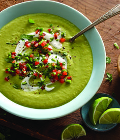 Roasted Pepper & Avocado Soup - Clean Eating - Clean Eating- SWAP the SC from non-fat plain Greek yogurt