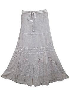 Gypsy Boho Skirt Stonewashed Rayon Embroidered Vintage Maxi Long Skirts Mogul Interior http://www.amazon.com/dp/B00WK0ZGZW/ref=cm_sw_r_pi_dp_TGDovb016J9MW