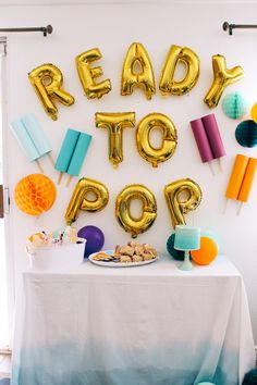 A ready to pop baby shower. When I found out my best friend was having a baby boy we wanted to shower her with a fun popsicle inspired baby shower.