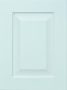 """Genesis Raised Panel Door  Available Material: MDF Color Shown: Incredible White Paint Available in All Outside Profiles - Shown with 18"""" Roundover Outside Profile Raised Panel Doors, Face Framing, Custom Cabinetry, White Paints, Cabinet Doors, Color Show, Profile, Frame, Design"""
