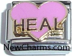 Italian Charms CUSTOM MADE Pink Heart Laser I Love ....