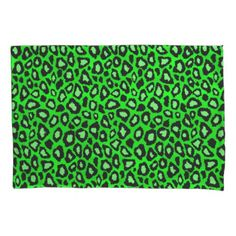 Leopard Lime Green Pillowcase