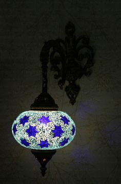 Multicolour Turkish Moroccan Style Mosaic Wall Sconce Light Large Gelobe