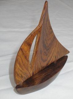 Nicaraguan Rosewood Sail Boat Carving. $19.95, via Etsy.