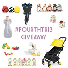 If you've taken a peek at issue 3 you may have seen our latest giveaway. We teamed up with some super brands to bring you this bundle of necessities (yes animal backpacks are extremely necessary!) worth around 400. To be in with a chance of winning all you have to do is post your favourite image from parenthood to instagram with the hashtag #fourthtri3 and tag @fourthtrimag. EASY. Giveaway is open until 9pm April 29th. The winner will be announced on our blog on April 30th. GOOD LUCK!  Prize…