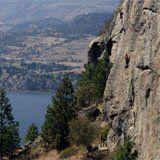 Rock Climbing at Skaha Bluffs, Penticton, B.C., Canada