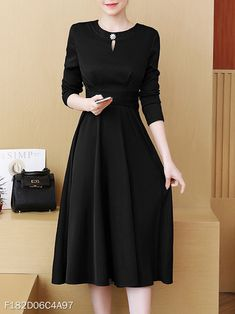 Modest Dresses for Women Elegant Dresses Classy, Classy Dress, Classy Outfits, Beautiful Dresses, Little Black Dress Classy, Modest Dresses, Trendy Dresses, Cute Dresses, Casual Dresses