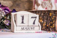 Calendar Date Block with Wedding Date