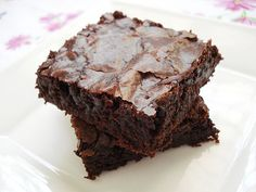Chewy Gooey Eggless Brownies