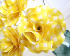 Yellow decorations by Eve Fayerman on Etsy