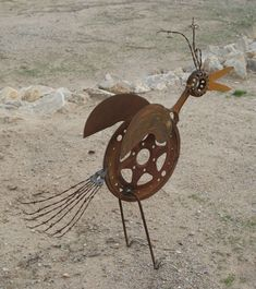 garden art from junk | Rusty D. Bird - Garden Junk Forum - GardenWeb