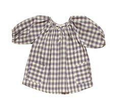 caramel baby and child grey checks print long sleeves dress