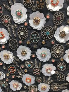lovely--Etincelle Creative STUDIO: Course at Lesage in Paris Tambour Beading, Tambour Embroidery, Hand Work Embroidery, Couture Embroidery, Embroidery Motifs, Embroidery Fashion, White Embroidery, Embroidery Designs, Embroidery Jewelry