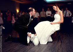 At a Catholic wedding, instead of the garter, a washing of the feet.