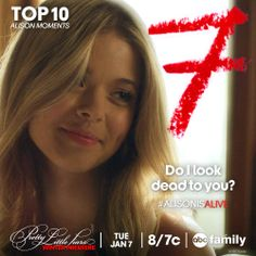 Only 7 days until PLL returns! Get ready to learn more about Ali this season! We're counting down our favorite Ali moments of all time, here's # 7! #AlisonisAlive