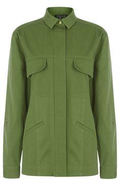 Shirts & Blouses | Green Heavy Casual Utility Jacket | Warehouse