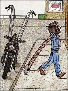 Funny biker cartoon - http://jokideo.com/funny-biker-cartoon-2/
