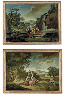 A PAIR OF ITALIAN REVERSE-GLASS PAINTINGS  18TH CENTURYhttp://www.christies.com/