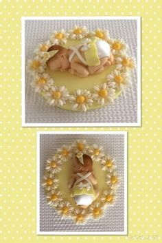 Flower Cake Toppers, Baby Cake Topper, Fondant Toppers, Edible Cake Toppers, Fruit Decorations, Fondant Decorations, Cake Icing Tips, Baby Mold, Baby Shower Souvenirs