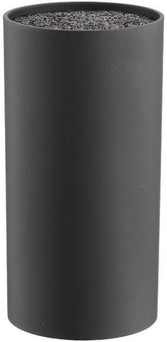 Grunwerg BLK-211BK Bloc à couteau universel en fibre Forme cylindrique Noir