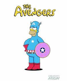 Avengers: Captain Homer America, The Simpsons