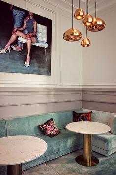 hotel concept Yndo Hotel, Bordeaux, France - Photography by Sebastien Carrier Century Hotel, Mid Century House, 19th Century, Mid-century Interior, Luxury Interior Design, Luxury Decor, Living Room Lighting, Living Room Decor, Bedroom Lighting