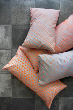 love these neon pillows from ferm living.