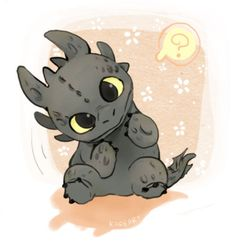 Baby toothless! IT'S SO CUTE I COULD DIEEE!!!!!
