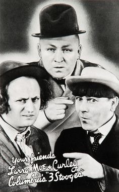 """the three stooges...When Bailey was small he would watch them every Sunday morning. He called them """"the funny guys."""" I miss those days :("""