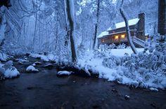Boone Vacation Rental - VRBO 25581 - 2 BR Blue Ridge Mountains Cabin in NC, Sleepy Creek-Antique Log Cabin on Beautiful Stream Near Boone