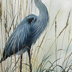 Natures Gentle Stillness Acrylic Print by James Williamson. All acrylic prints are professionally printed, packaged, and shipped within 3 - 4 business days and delivered ready-to-hang on your wall. Choose from multiple sizes and mounting options. Flying Bird Silhouette, Watercolor Paintings, Original Paintings, Thing 1, Blue Heron, Wood Print, Painting Inspiration, All Art, Art Images