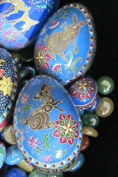 Turkey Egg Pysanky by Katrina Lazarev