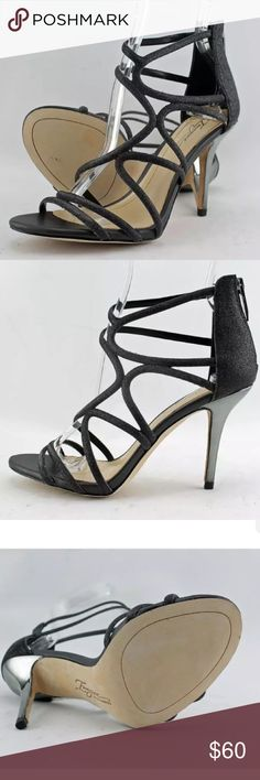 """SALEVince Camuto Ranee black heels 6.5 NEW Brand new in the original box, never used, 6.5. Vince Camuto high heels. Black straps and silver stiletto heel (approx. 3.75""""). Gorgeous and sexy heels! Sold at Macy's, Dillard's Nordstrom at $120-150. Make it yours for a fraction of the price! :) Vince Camuto Shoes Heels"""